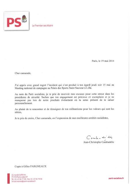réponse 1er secrétaire_meeting Lille